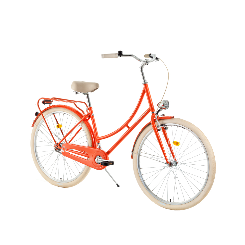 """Mestský bicykel DHS Citadinne 2632 26'' - model 2018 Orange - 18"""" - Záruka 10 rokov"""