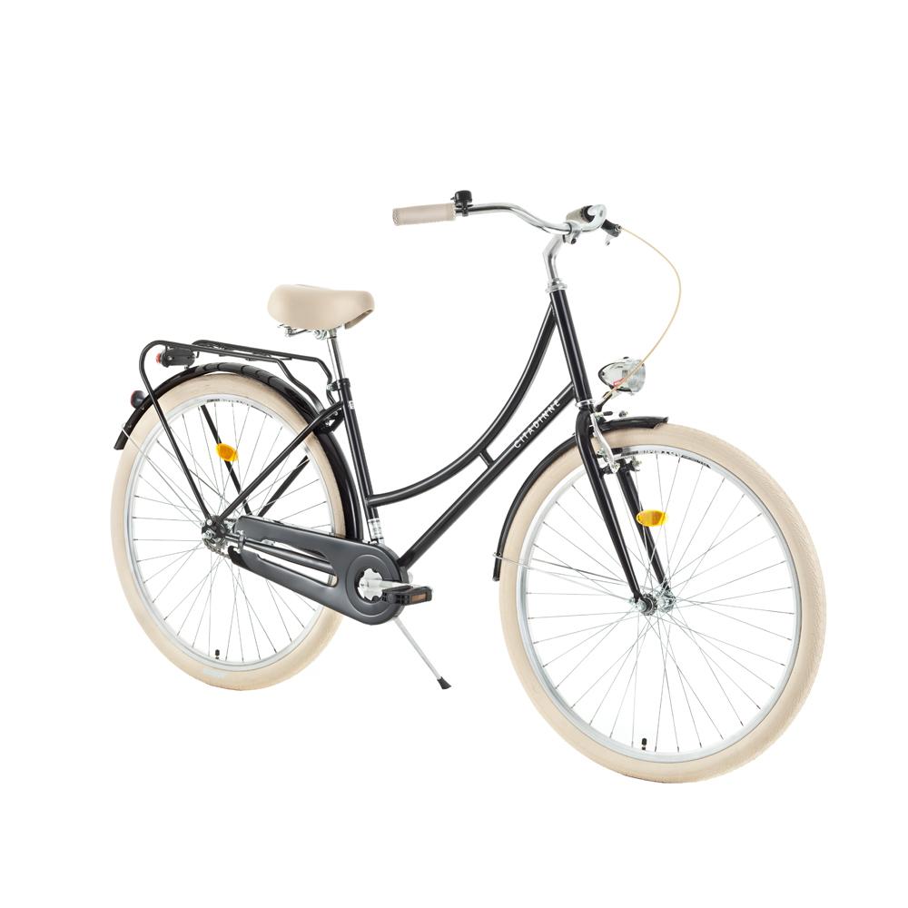 "Mestský bicykel DHS Citadinne 2832 28"" - model 2018 Black - 17,5"" - Záruka 10 rokov"