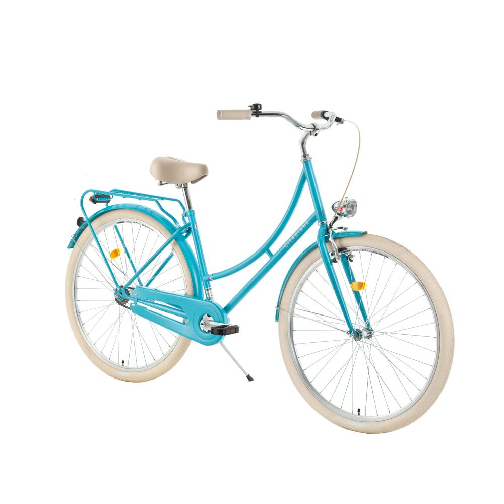 "Mestský bicykel DHS Citadinne 2832 28"" - model 2018 Light Green - 17,5"" - Záruka 10 rokov"
