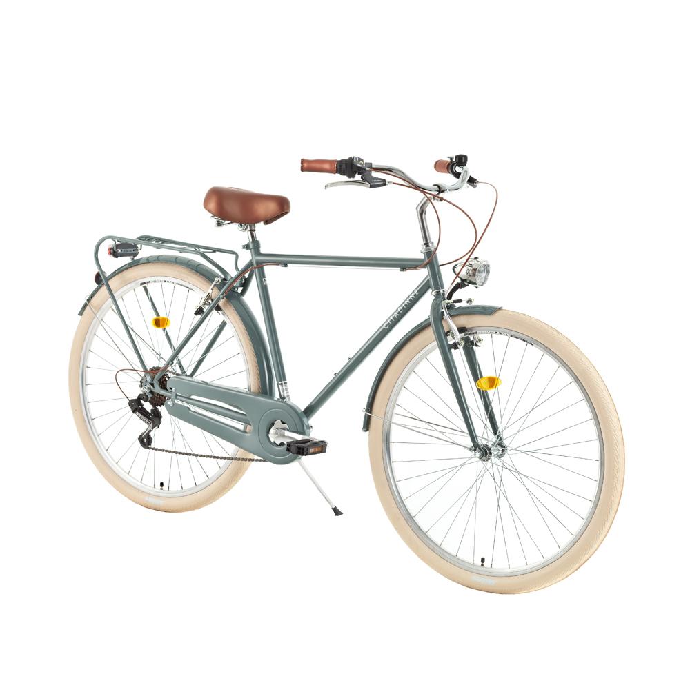 "Mestský bicykel DHS Citadinne 2833 28"" - model 2018 Grey - 20,5"" - Záruka 10 rokov"