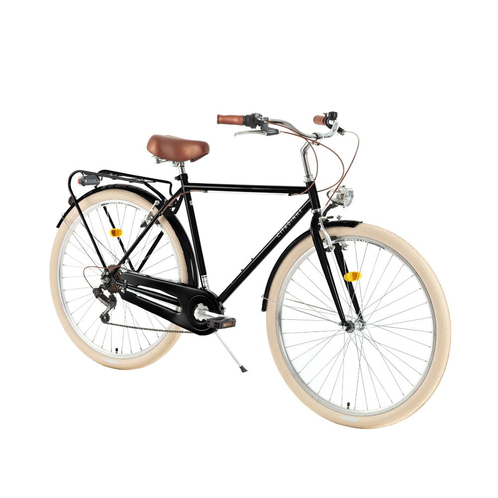 "Mestský bicykel DHS Citadinne 2833 28"" - model 2018 Black - 20,5"" - Záruka 10 rokov"