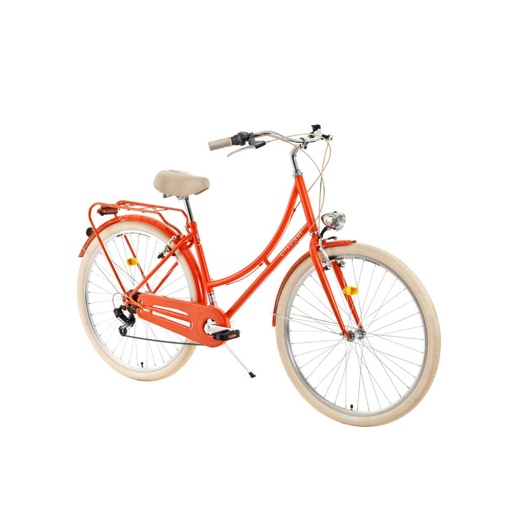 """Mestský bicykel DHS Citadinne 2634 26"""" - model 2018 Orange - 18"""" - Záruka 10 rokov"""
