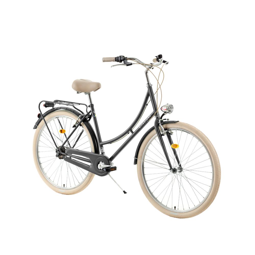 "Mestský bicykel DHS Citadinne 2636 26"" - model 2018 Black - 18"" - Záruka 10 rokov"
