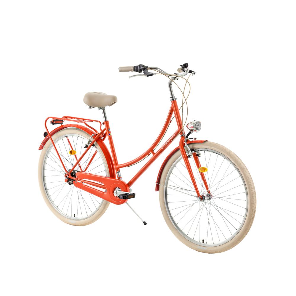 """Mestský bicykel DHS Citadinne 2636 26"""" - model 2018 Orange - 18"""" - Záruka 10 rokov"""