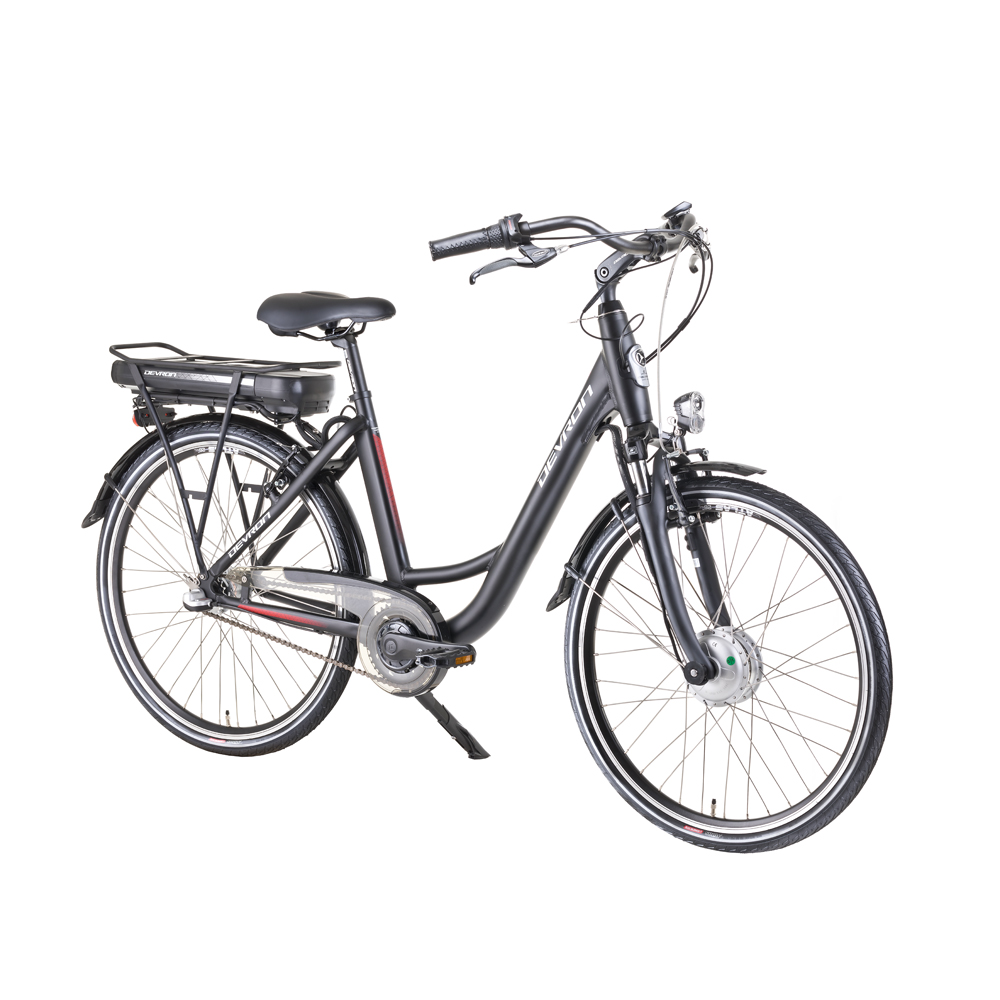 "Mestský elektrobicykel Devron 26120 26"" - model 2018 Black Matt - 18"" - Záruka 10 rokov"