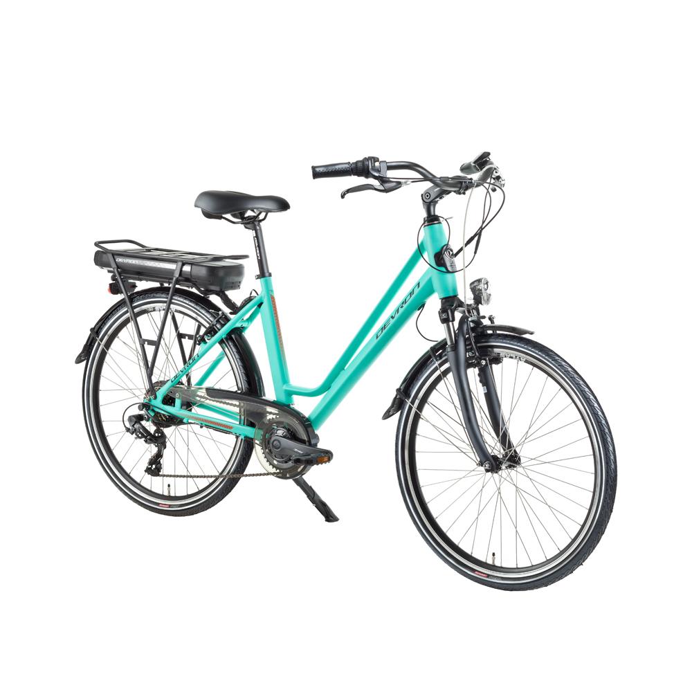 "Mestský elektrobicykel Devron 26122 - model 2018 Light Blue - 18"" - Záruka 10 rokov"