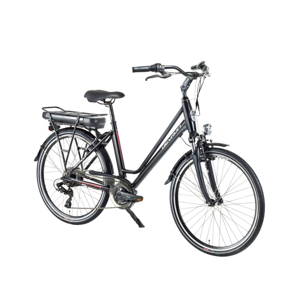 "Mestský elektrobicykel Devron 26122 - model 2018 Black Matt - 18"" - Záruka 10 rokov"