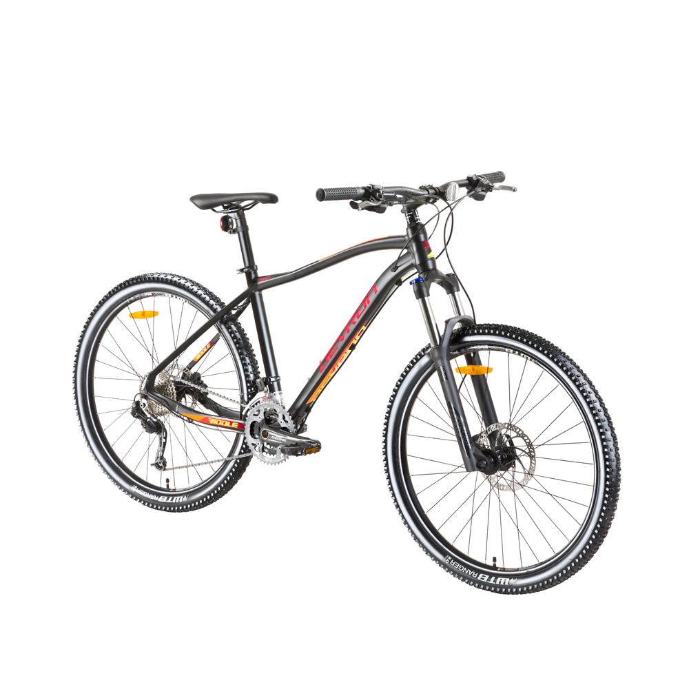 "Horský bicykel Devron Riddle H3.7 27,5"" - model 2018 Black - 18"" - Záruka 10 rokov"