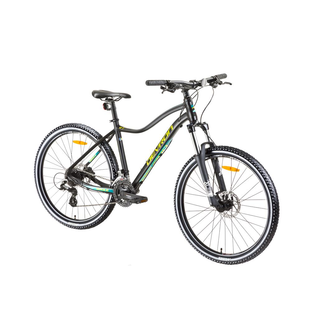 """Dámsky horský bicykel Devron Riddle Lady 1.7 27,5"""" - model 2018 Black - 16,5"""" - Záruka 10 rokov"""