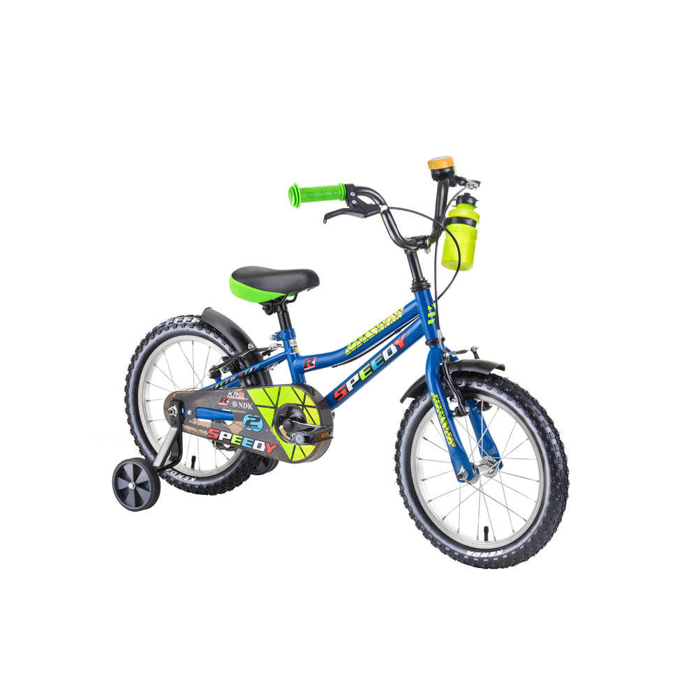 "Detský bicykel DHS Speedy 1603 16"" - model 2019 blue - Záruka 10 rokov"