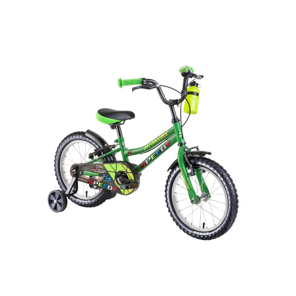 "Detský bicykel DHS Speedy 1603 16"" - model 2019 Green - Záruka 10 rokov"
