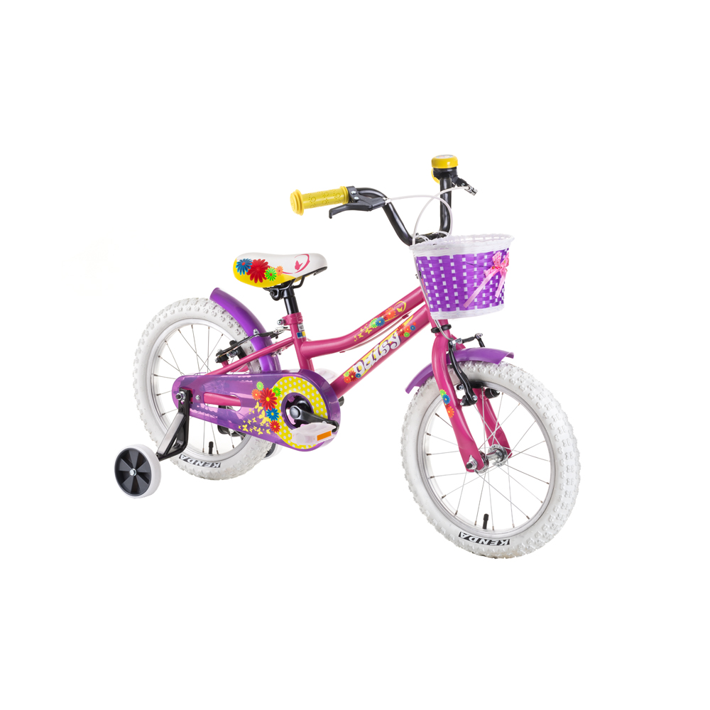 """Detský bicykel DHS Daisy 1604 16"""" - model 2019 Pink - Záruka 10 rokov"""