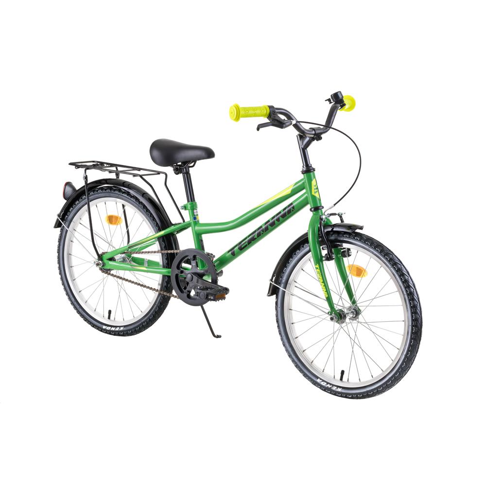 """Detský bicykel DHS Teranna 2001 20"""" 4.0 Green - Záruka 10 rokov"""