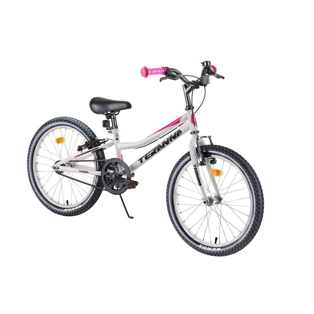 """Detský bicykel DHS Teranna 2004 20"""" - model 2019 White - Záruka 10 rokov"""