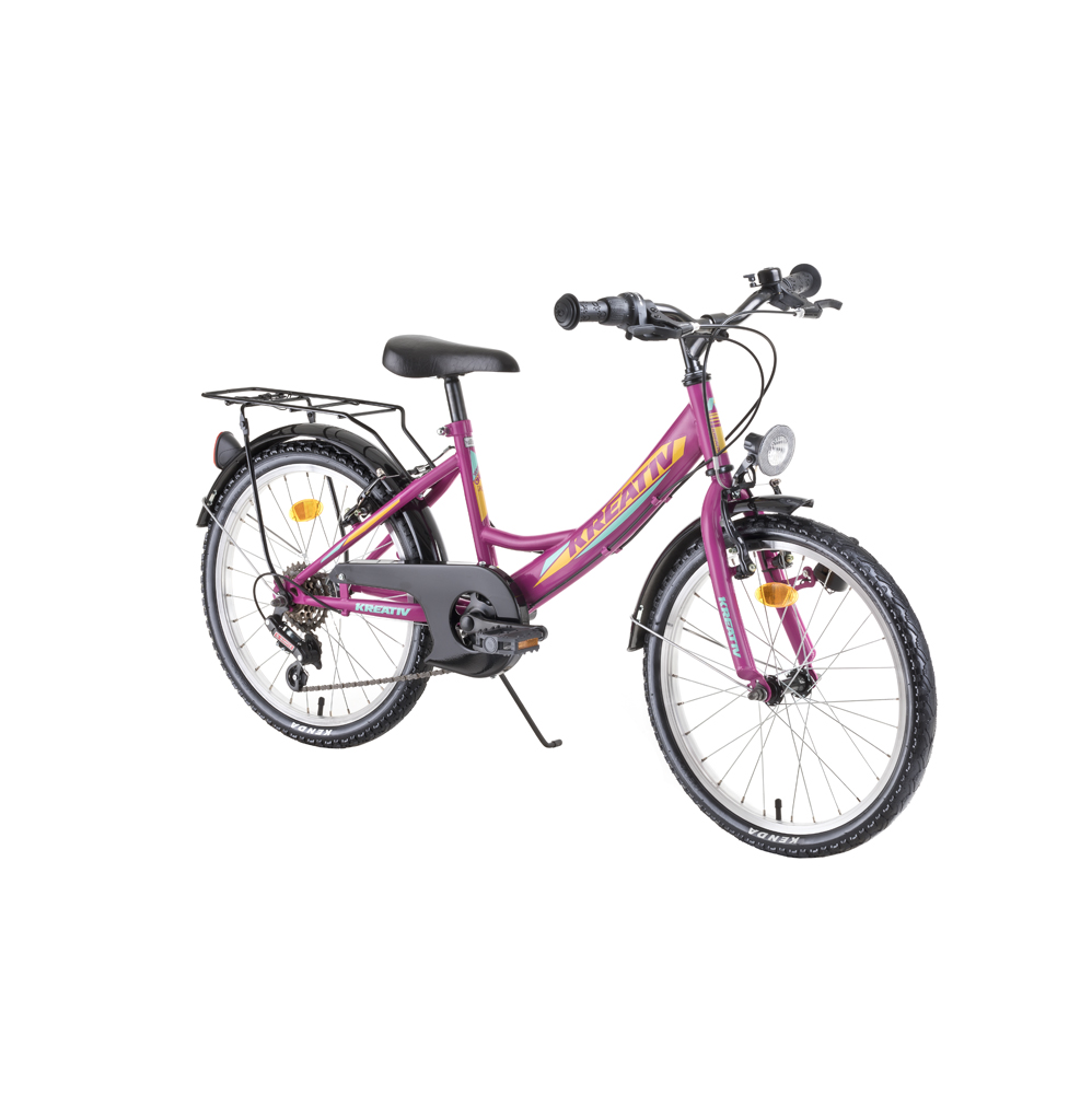 "Detský bicykel Kreativ 2014 20"" - model 2019 Purple - Záruka 10 rokov"