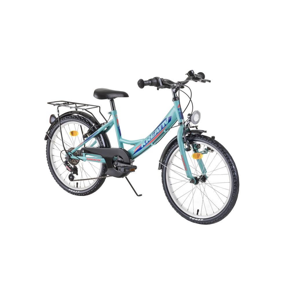 "Detský bicykel Kreativ 2014 20"" - model 2019 Light Green - Záruka 10 rokov"