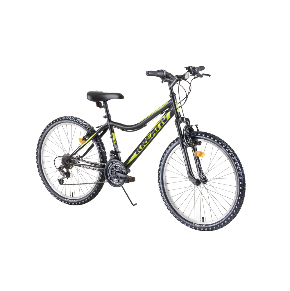 """Juniorský horský bicykel Kreativ 2404 24"""" - model 2019 Black - Záruka 10 rokov"""