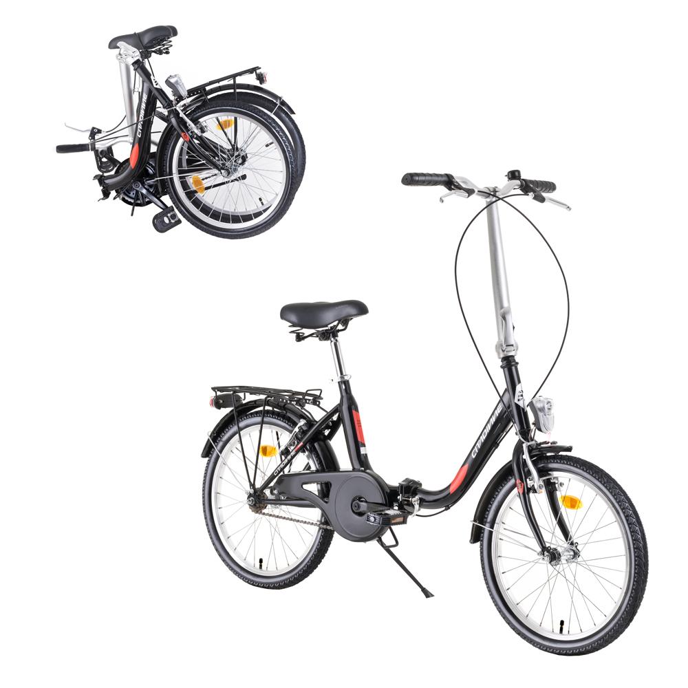 "Skladací bicykel DHS Folder 2092 20"" - model 2019 Black - Záruka 10 rokov"