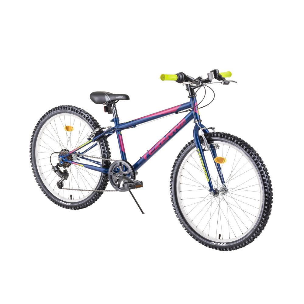 """Juniorský bicykel DHS Teranna 2421 24"""" - model 2019 blue - Záruka 10 rokov"""