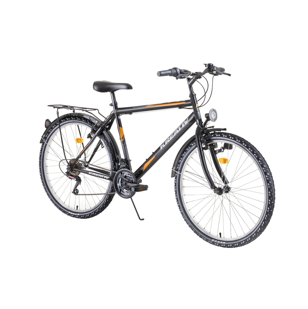 "Trekingový bicykel Kreativ 2613 26"" - model 2019 Black - Záruka 10 rokov"