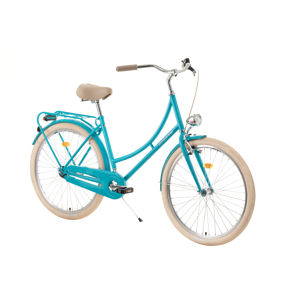 "Mestský bicykel DHS Citadinne 2632 26'' - model 2019 Light Green - 18"" - Záruka 10 rokov"