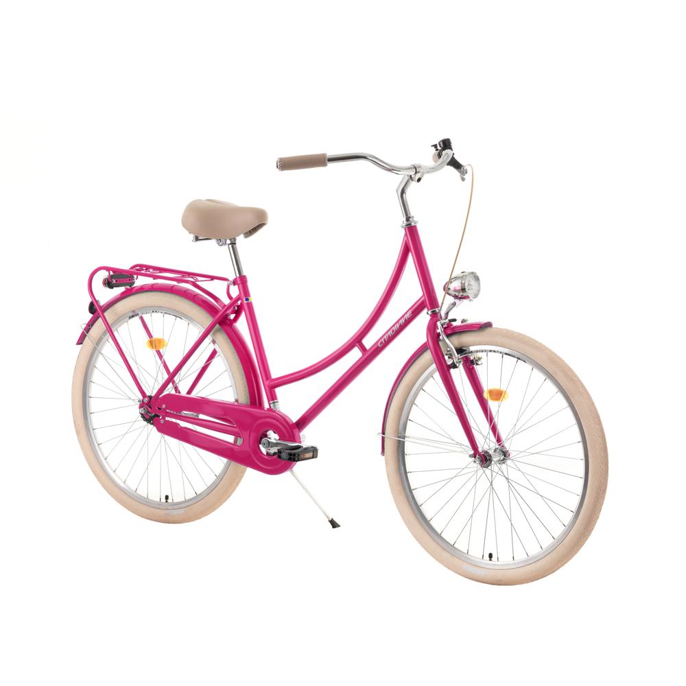 "Mestský bicykel DHS Citadinne 2632 26'' - model 2019 Pink - 18"" - Záruka 10 rokov"