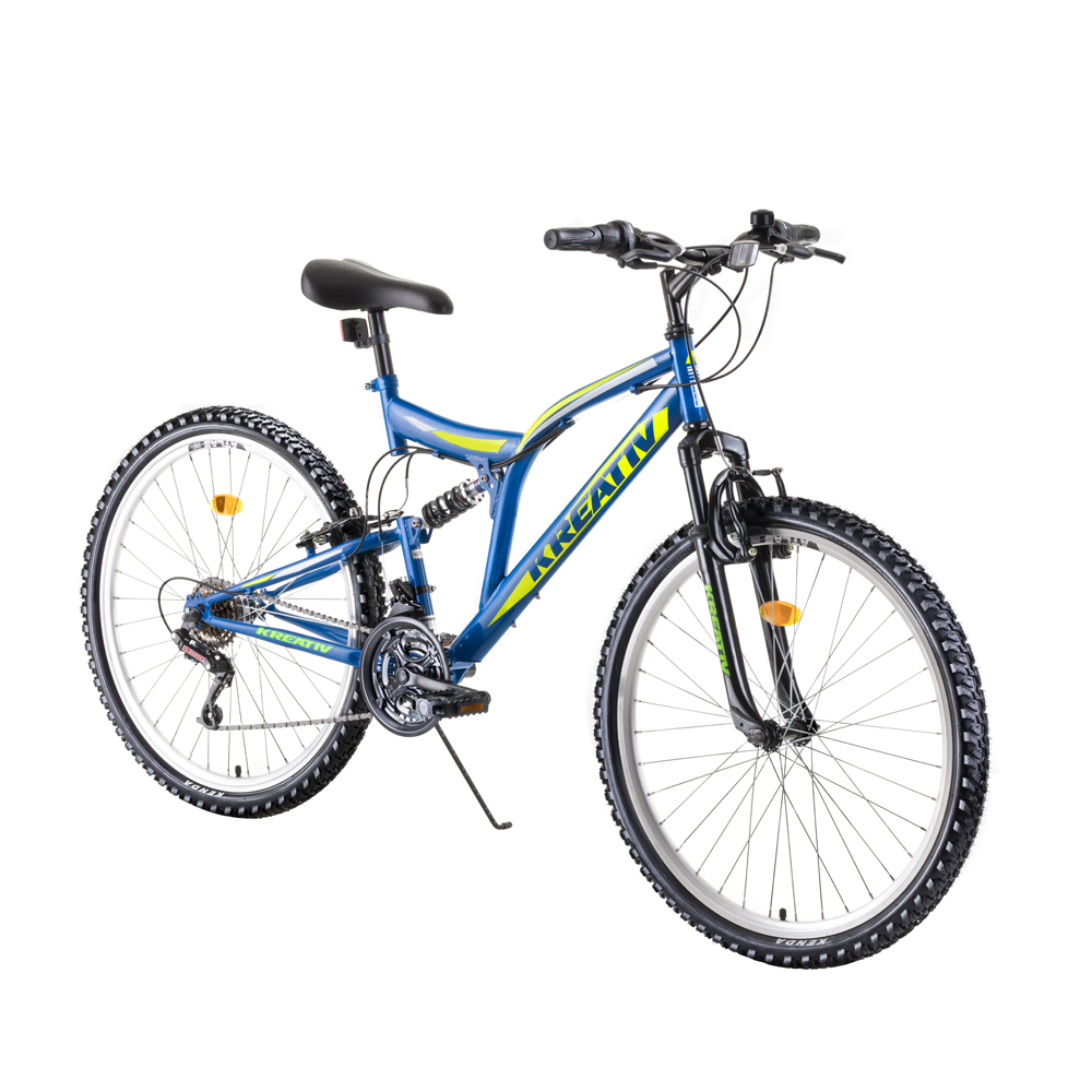 "Celoodpružený bicykel Kreativ 2641 26"" - model 2019 blue - Záruka 10 rokov"