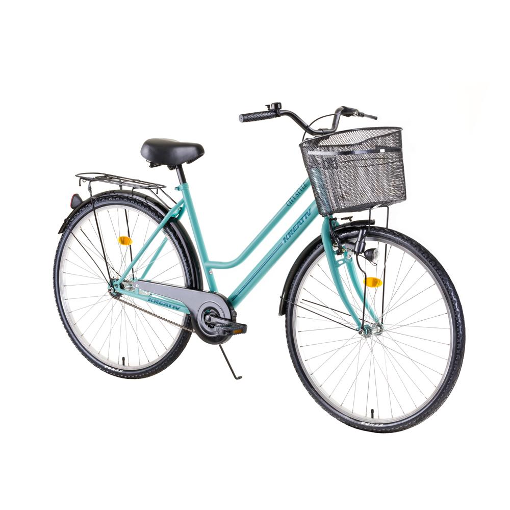 """Dámsky mestský bicykel Kreativ Comfort 2812 28"""" - model 2019 Light Green - Záruka 10 rokov"""