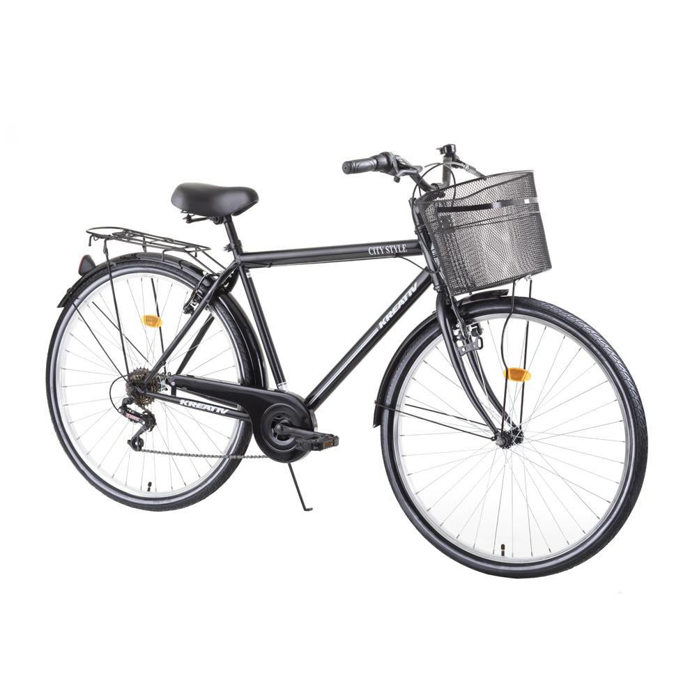 """Mestský bicykel Kreativ City Series 2813 28"""" - model 2019 Black - Záruka 10 rokov"""
