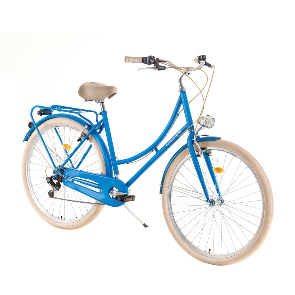 "Mestský bicykel DHS Citadinne 2834 28"" - model 2019 blue - 20"" - Záruka 10 rokov"