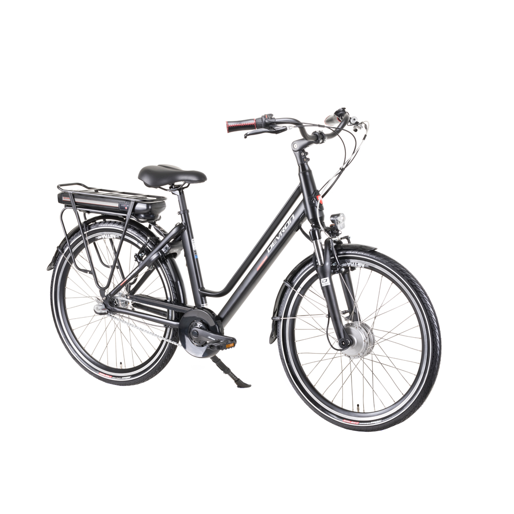 "Mestský elektrobicykel Devron 26122 - model 2019 Black - 18"" - Záruka 10 rokov"