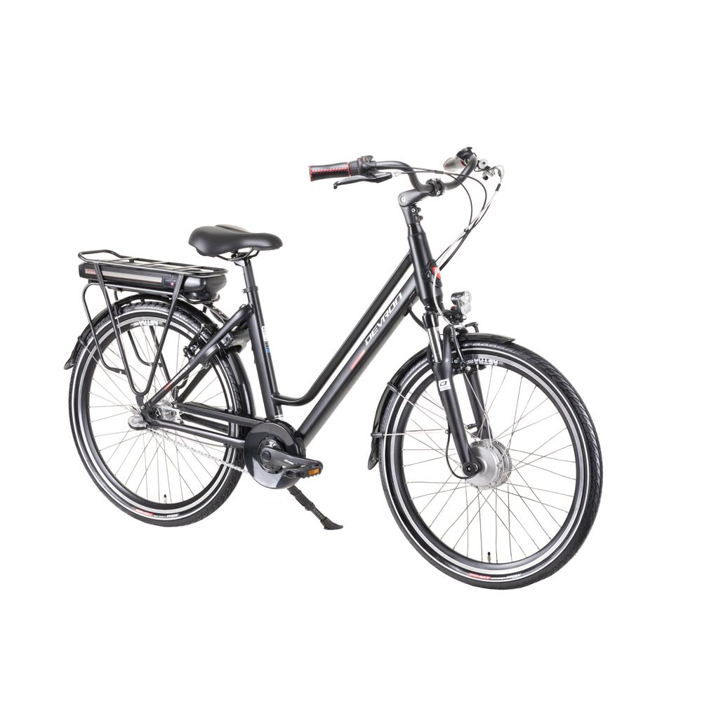 "Mestský elektrobicykel Devron 28122 4.0 Black - 19,5"" - Záruka 10 rokov"