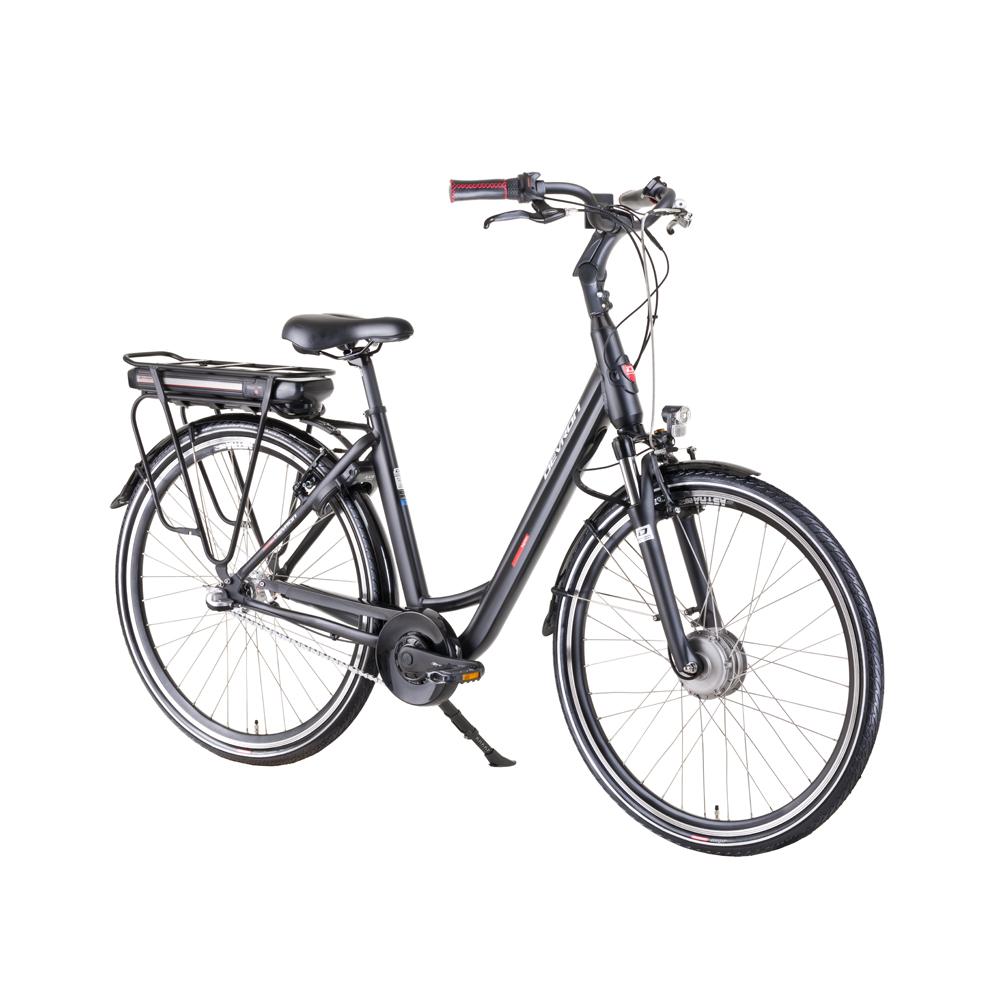 "Mestský elektrobicykel Devron 28124 28"" - model 2019 Black - 19,5"" - Záruka 10 rokov"