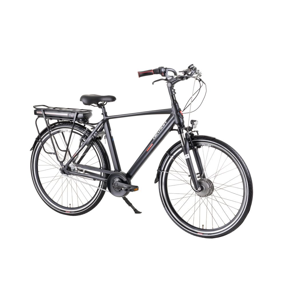 """Mestský elektrobicykel Devron 28125A 28"""" - model 2019 Black - 20,5"""" - Záruka 10 rokov"""