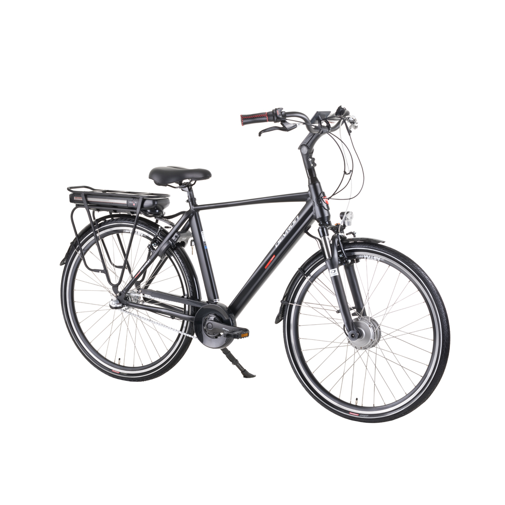 "Mestský elektrobicykel Devron 28125 28"" - model 2019 Black - 20,5"" - Záruka 10 rokov"