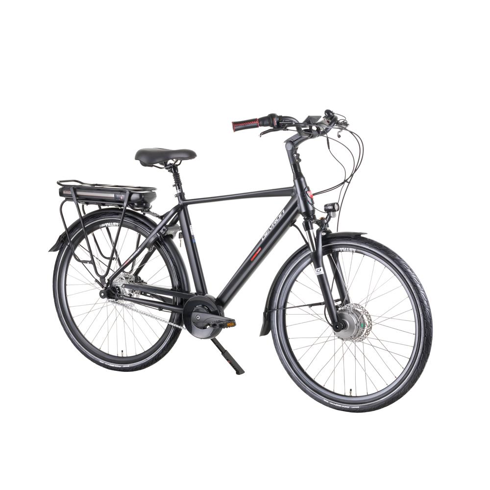 "Mestský elektrobicykel Devron 28127 28"" - model 2019 Black - 20,5"" - Záruka 10 rokov"