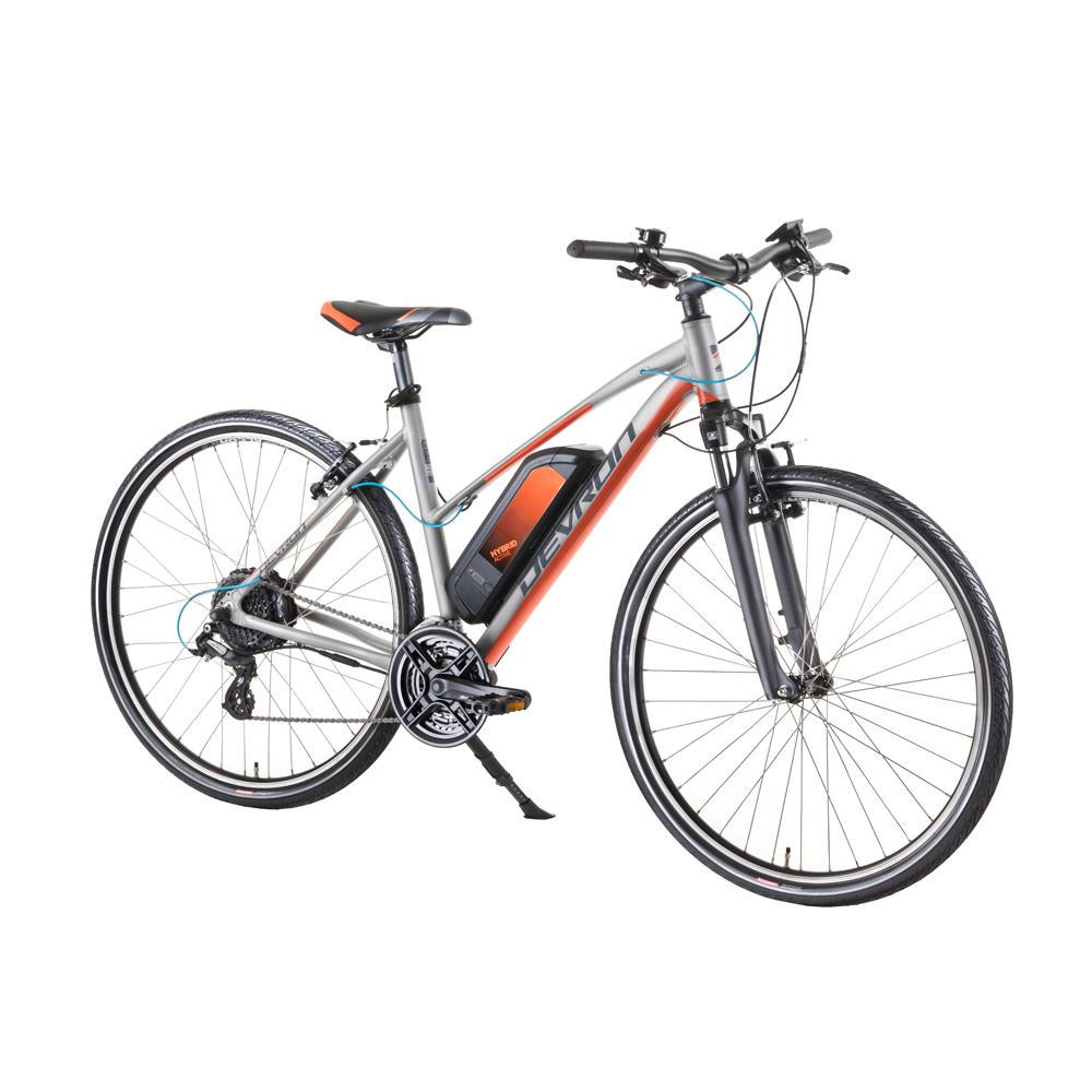 """Dámsky crossový elektrobicykel Devron 28162 28"""" - model 2019 Silver - 18"""" - Záruka 10 rokov"""