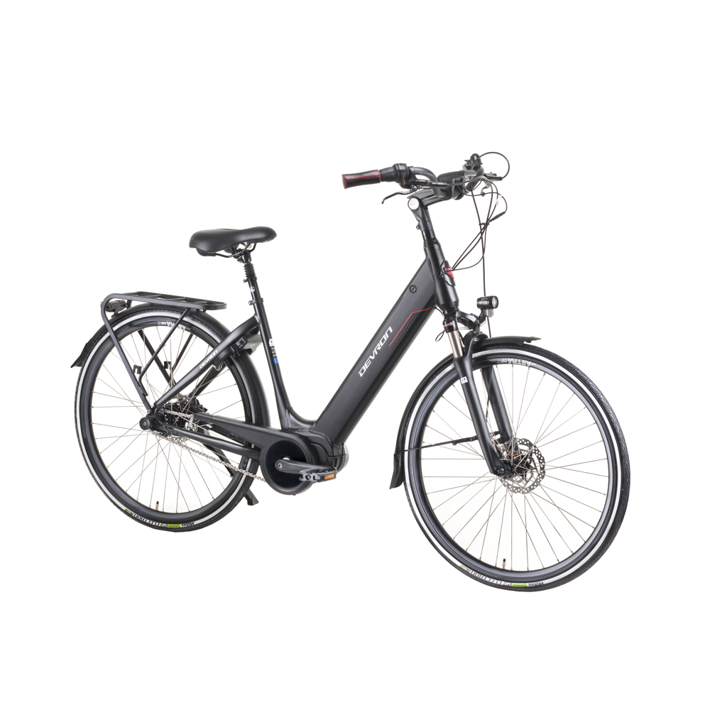 "Mestský elektrobicykel Devron 28426 28"" - model 2019 Black - 19,5"" - Záruka 10 rokov"