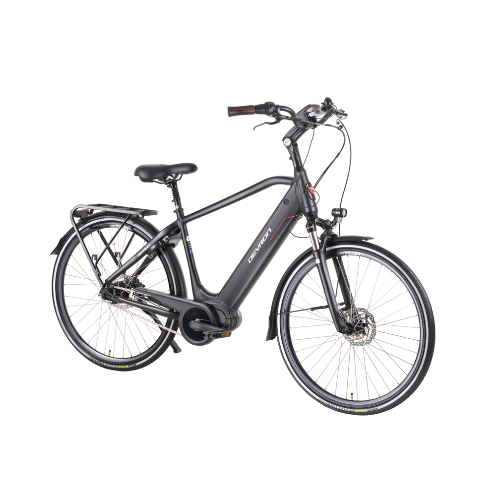 "Mestský elektrobicykel Devron 28427 28"" - model 2019 Black - 19,5"" - Záruka 10 rokov"