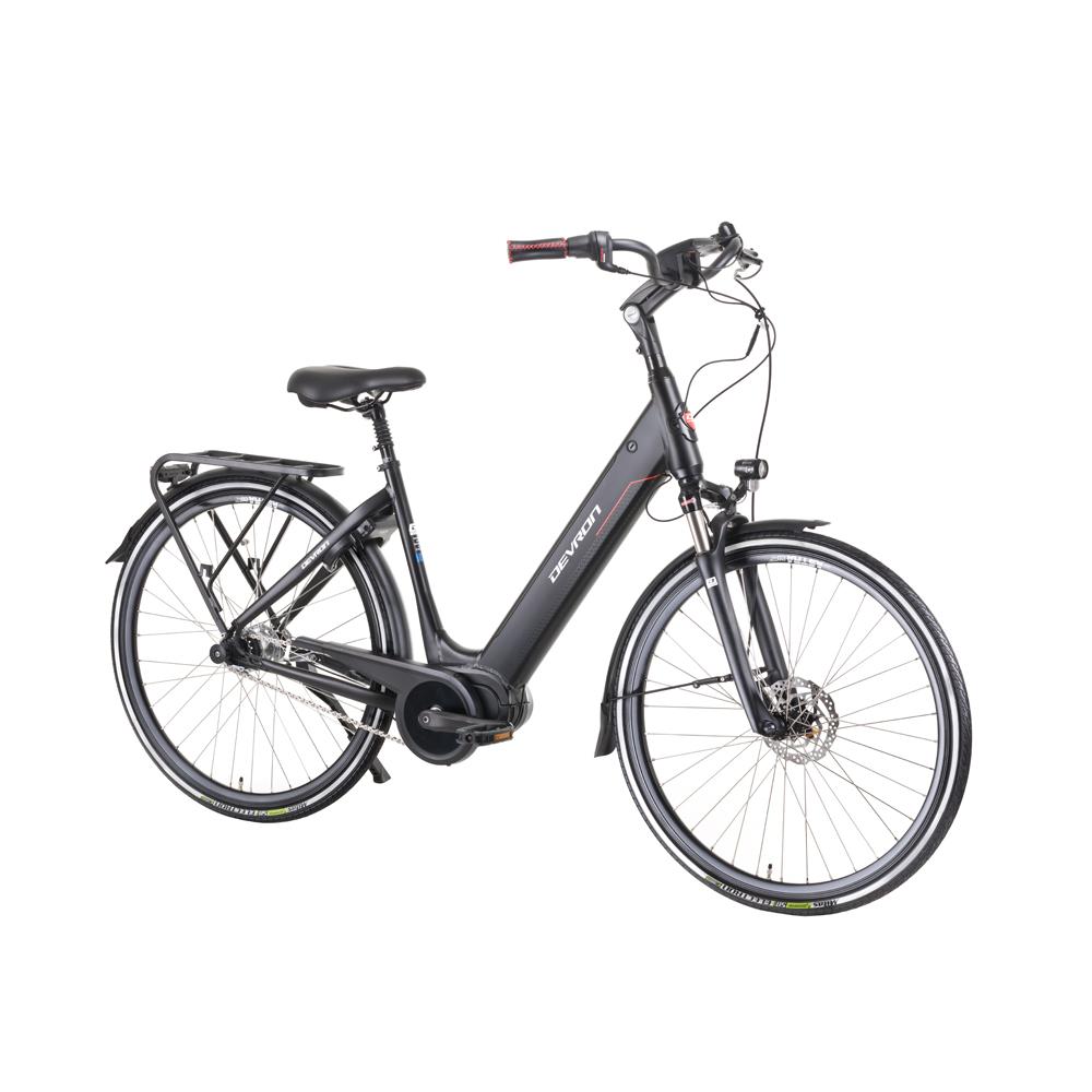 """Mestský elektrokbicykel Devron 28426A 28"""" - model 2019 Black - 19,5"""" - Záruka 10 rokov"""