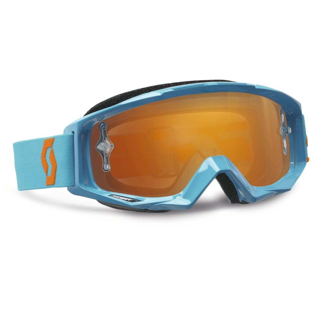 Moto okuliare SCOTT Tyrant MXV modro-oranžová