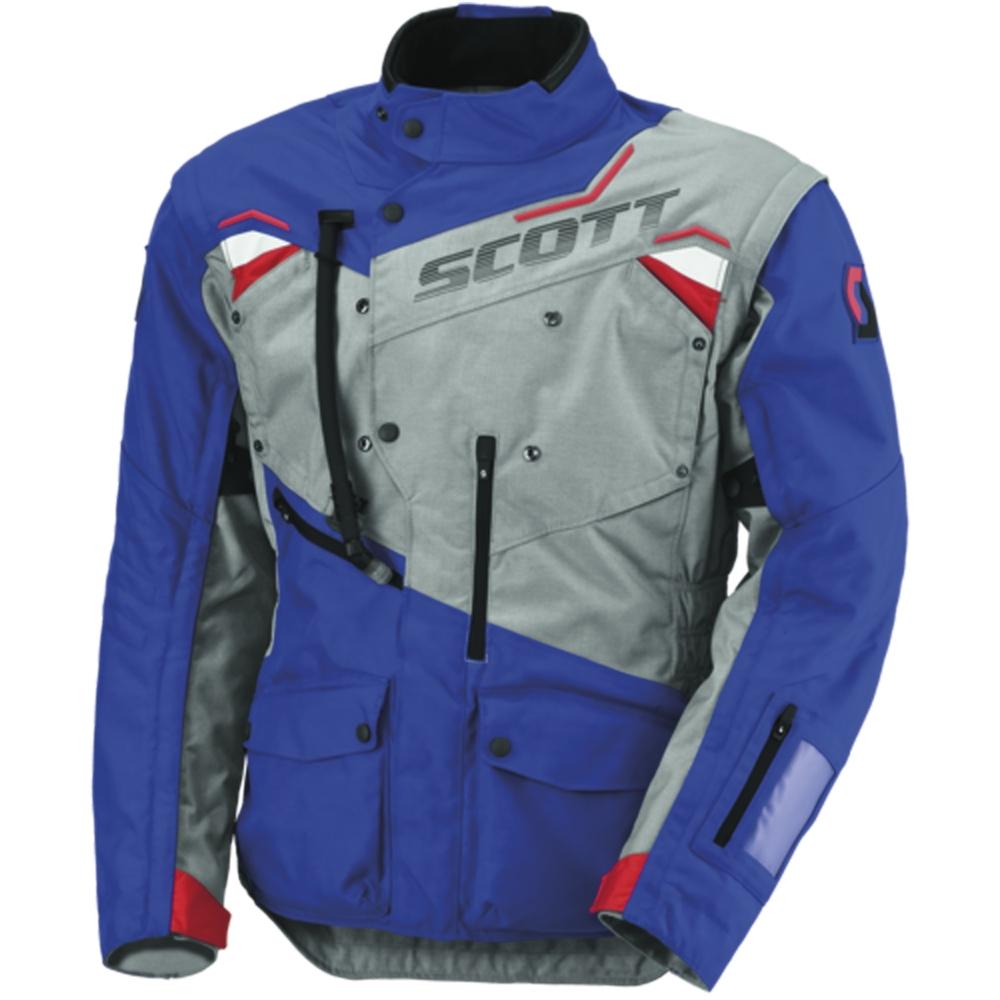 Moto bunda SCOTT Dualraid TP MXVI šedo-modrá - M (46-48)