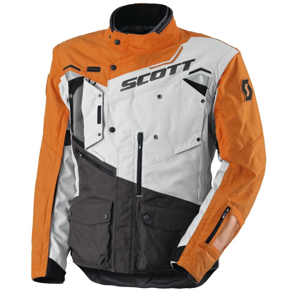 Moto bunda SCOTT Dualraid TP MXVI šedo-oranžová - 3XL (60)