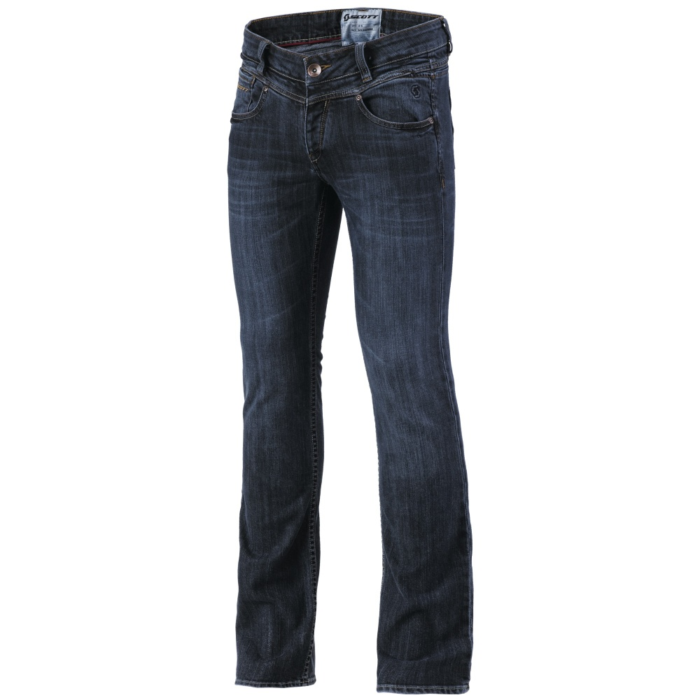 Dámske jeansové moto nohavice SCOTT W's Denim XVI tmavo modrá - M (36)