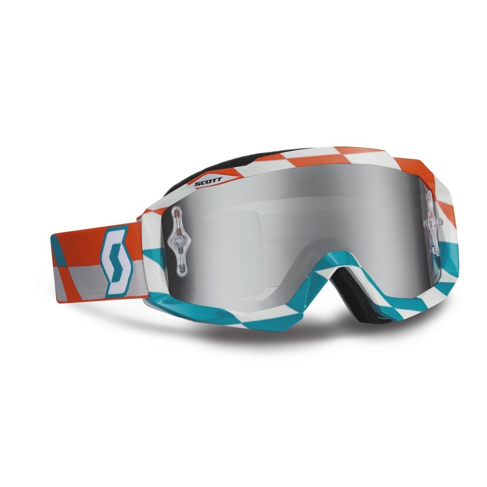 Moto okuliare SCOTT Hustle MXV oranžovo-modrá