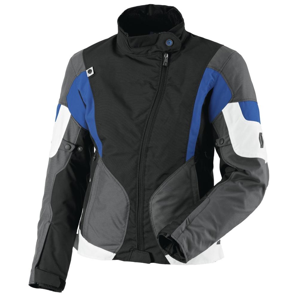 Dámska moto bunda SCOTT Technit DP čierno-modrá - XXXL (44)