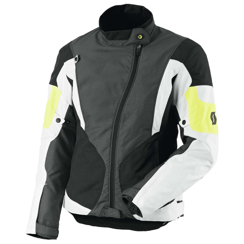 Dámska moto bunda SCOTT Technit DP šedo-žltá - M (36)
