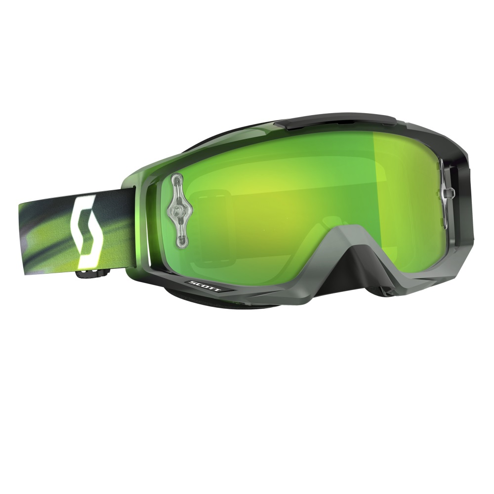 Moto okuliare SCOTT Tyrant MXVI speed grey-green-green chrome