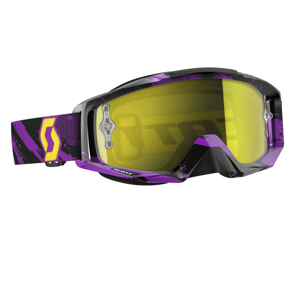 Moto okuliare SCOTT Tyrant MXVI zebra purple-yellow-yellow chrome