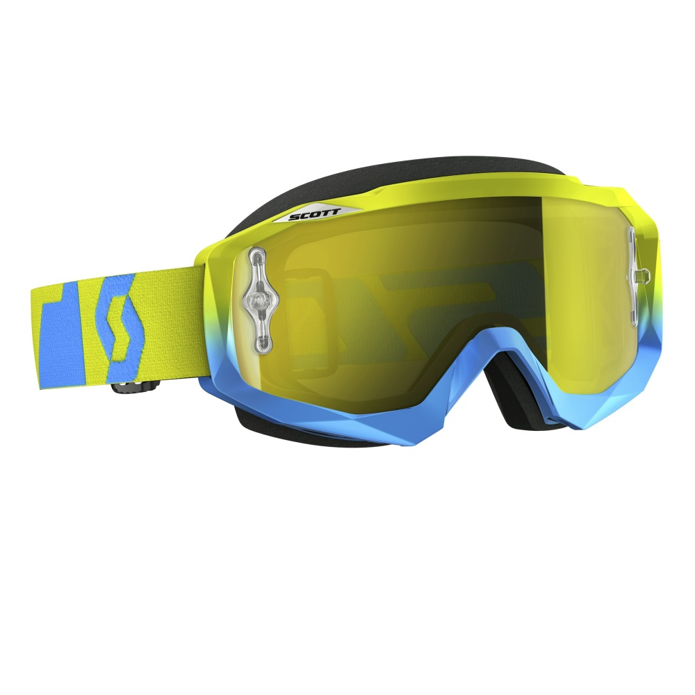 Moto okuliare SCOTT Hustle MXVI oxide blue-green-yellow chrome
